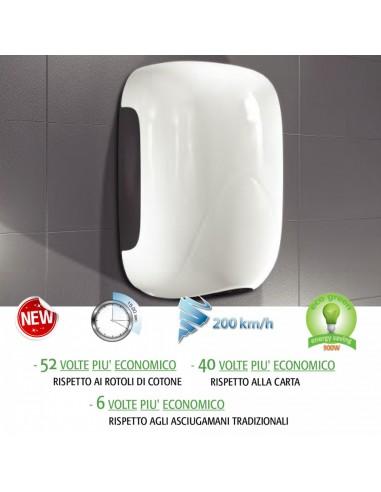 Asciugamani elettrico con fotocellula Eco Stream in Abs 1100w