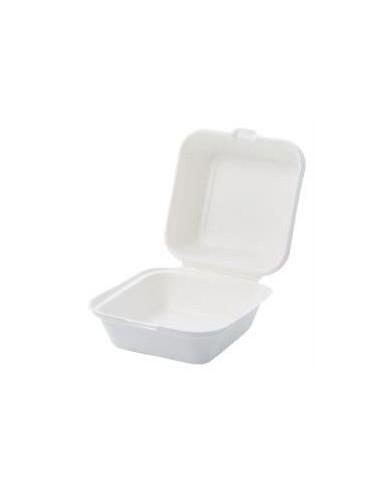 BOX HAMBURGER 450 ML 15X15X5 50PZ.POLPA DI CELLULOSA c/coperchio