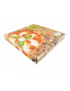 Scatola pizza 24x24x3 con coperchio 100pz.