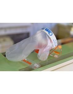 Clean Hands Base Kit Plexiglass con portacartello- guanto igienico per alimenti