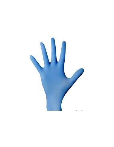 Guanto nitrile blu resistente  senza talco 100pz.