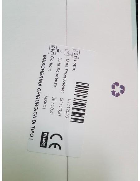 Saphy Baby mascherina chirurgica monouso certificata CE box 50 pezzi  Made in Italy