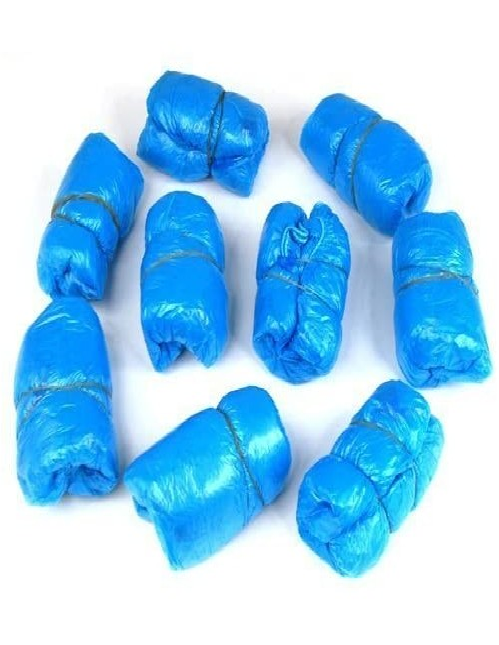 100 copriscarpe in Plastica blu per piscine palestre studi medici usa e getta