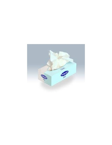 Veline facciali in carta 2 veli pura cellulosa monouso tipo Kleenex 100pz.