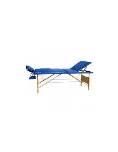 Lettino massaggi in legno pieghevole 4 zone