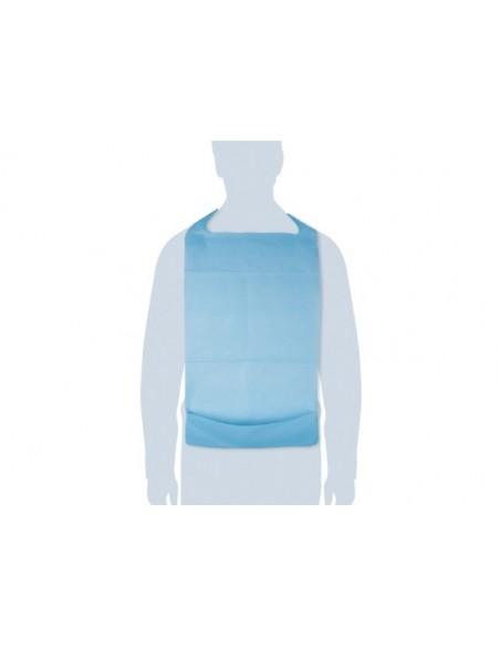 bavagli per anziani monouso con tasca azzurro 100 pz. cleany