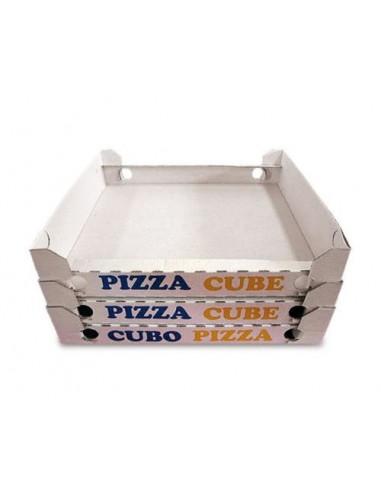 Contenitore cubo pizza da asporto 33x33x3 senza coperchio 200pz.