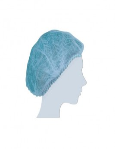 Cuffia plissettata tnt monouso azzurro conf. 100 pezzi