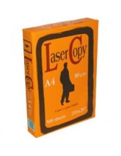 Fogli carta A4 risma 500 fogli 80gr. Lasercopy
