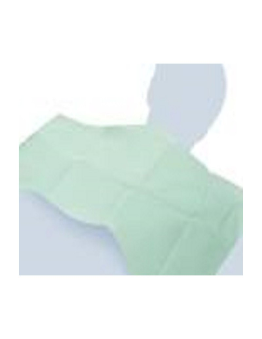 Bavaglio monouso medicale per dentista PE+ Carta 250pz. colore verde