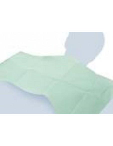 Bavaglio monouso medicale per dentista 45x33 PE+ Carta 250pz. colore verde
