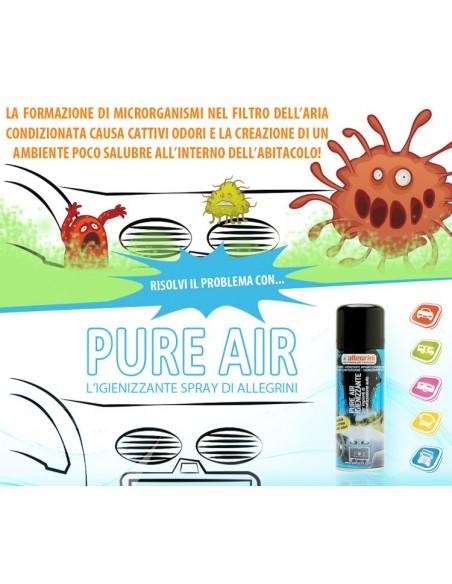 Spray igienizzante Allegrini Pure Air per impianti climatizzazione auto 200ml.
