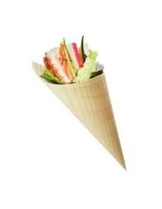 Cono in legno bamboo finger food pz.50