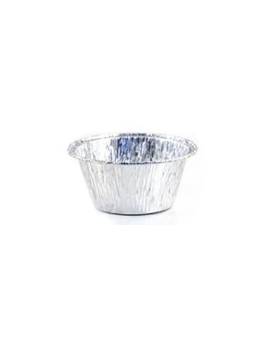 Vaschetta in alluminio 1 porzione pirottino confezione 100pz.