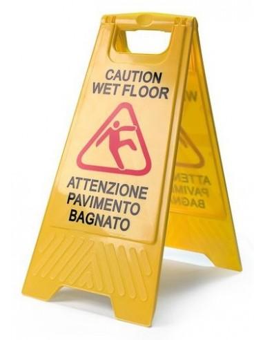 Segnale pavimento bagnato detershoponline - Cartello pavimento bagnato ...