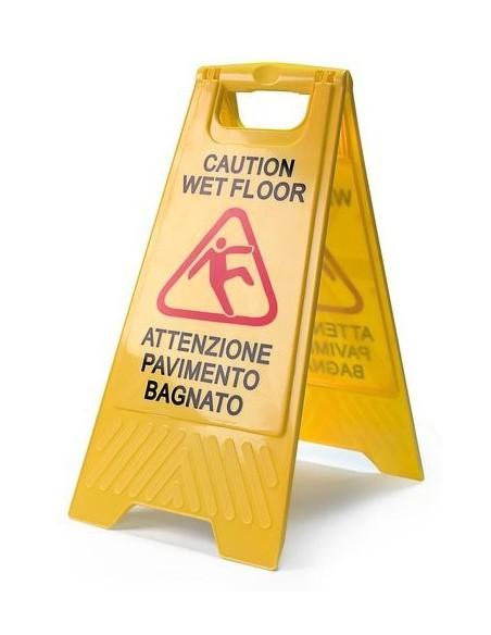 """Segnale pericolo """"pavimento bagnato"""""""