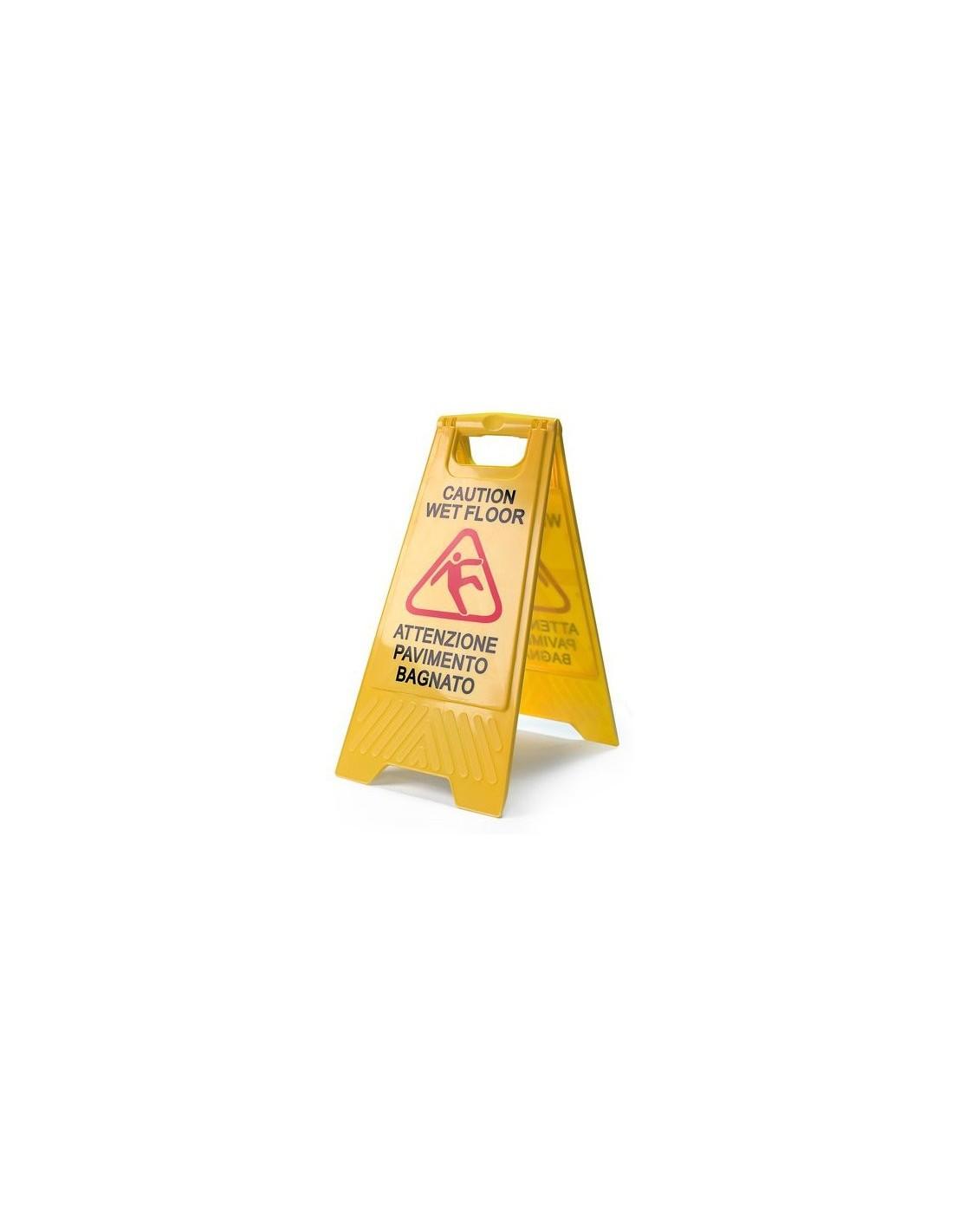 Vendita online carrelli pulizia imprese pulizia e carrelli hotel - Segnale pavimento bagnato ...