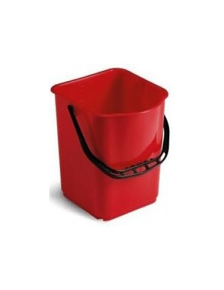 Secchio 15lt. moplen rosso