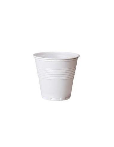 Bicchiere plastica bianco 80cc.100pz.