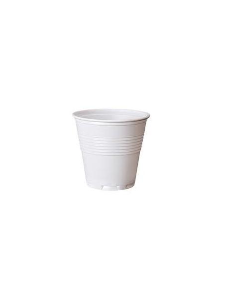 Bicchiere plastica bianco 80cc. 4800pz.