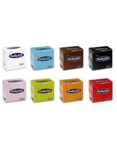 Tovaglioli di carta colorati 25x25 2 veli 24 confezioni da 100PZ