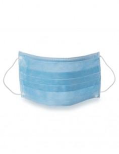 Mascherina chirurgica monouso medicale 3 veli con elastico cof. 50pz. colore azzurro