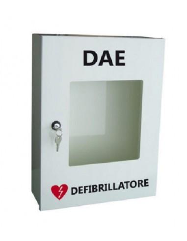 Armadio teca in metallo porta defibrillatore pharma+