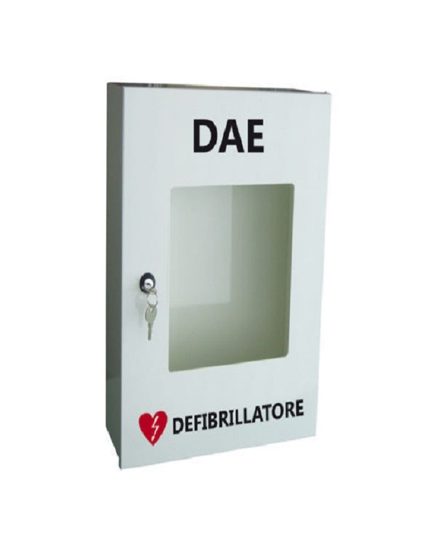 Cassetta Armadio teca in metallo porta defibrillatore