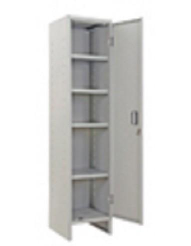 Armadio metallico 1 anta e serratura con 4 ripiani 40x40x1795cm