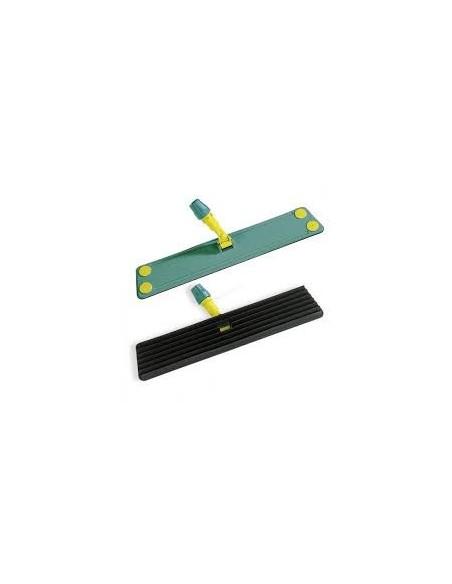 Attrezzo lamellare cm. 40x11 verde con lamine in gomma